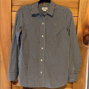Vineyard Vines Gingham Checked Button Up Shirt Sz6
